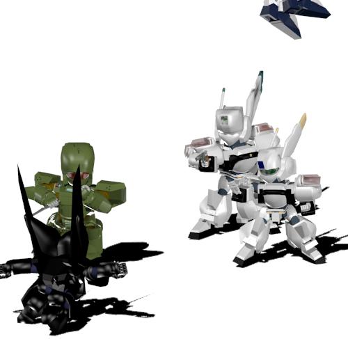イングラム1号機、3号機、ヘルダイバー、グリフォン